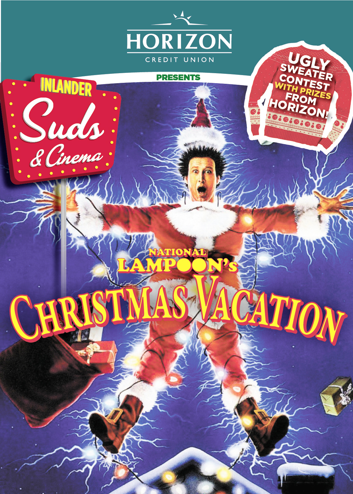 national lampoons christmas vacation rated pg 13 thursday december 22nd garland theater 924 west garland ave - National Lampoon Christmas Vacation